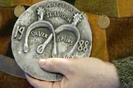 Knightmare Series 2 Team 4. The winners receive a Silver Spurs medal from Anglia Television.