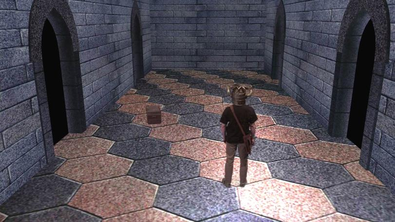 The dungeoneer enters the Corridor of the Catacombs. Remastered for the Geek Week episode of Knightmare (2013).