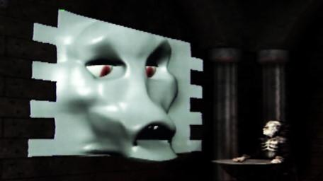 The Brollachan, a shape-shifting monster, appears in Lord Fear's chamber in Series 7 of Knightmare (1993).