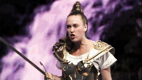 Gundrada, the Sword Mistress. Played by Samantha Perkins.