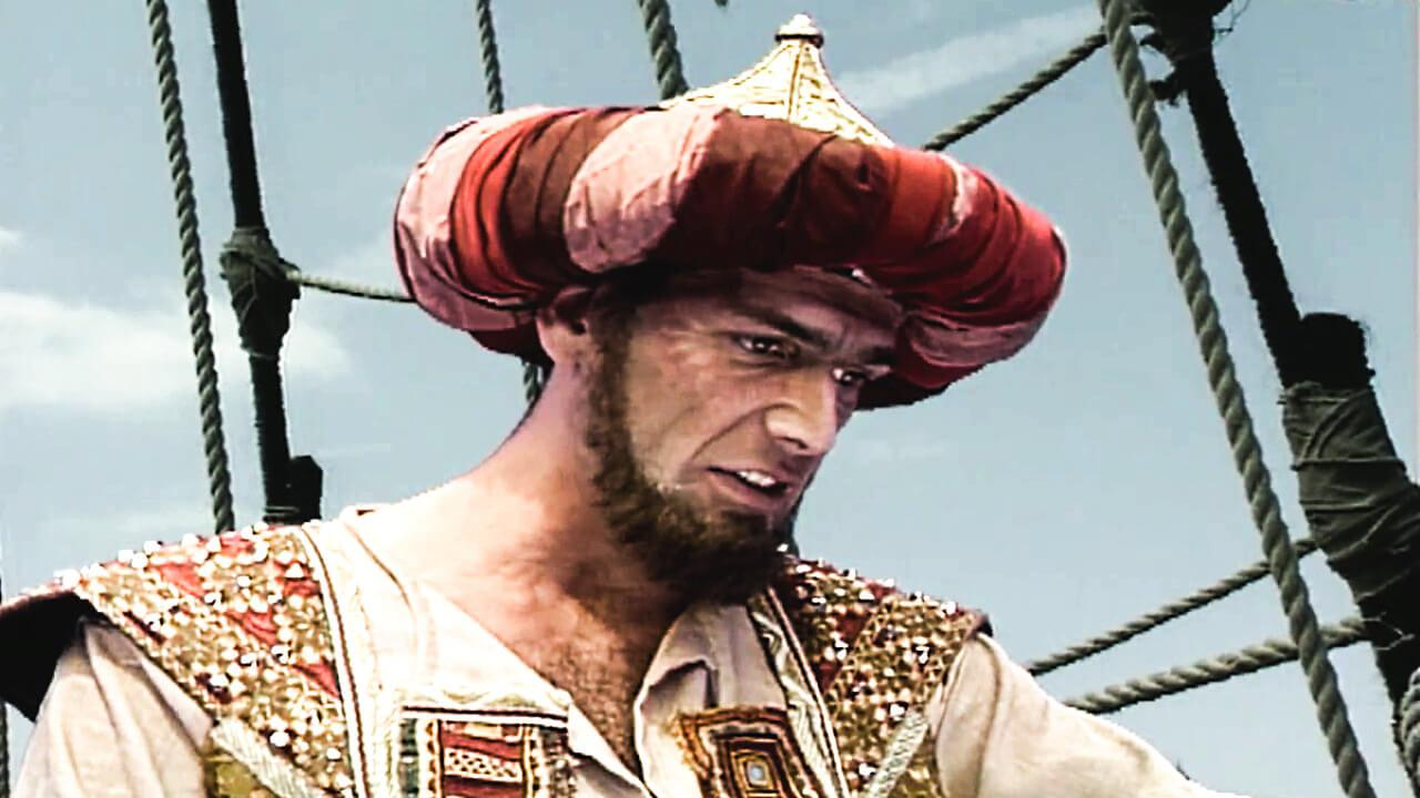Captain Nemanor from the galleon Cloudwalker. Played by Adrian Neil.
