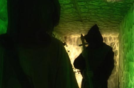 Knightmare Series 7 Team 6. Julie meets Brother Strange in a Level 1 dwarf tunnel.