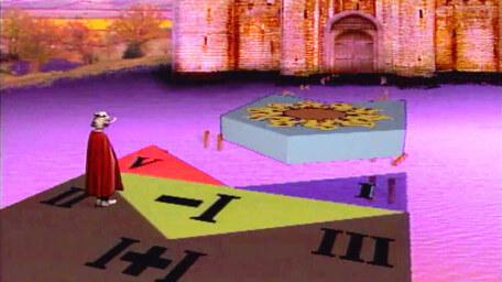 The finalists' causeway seen in Series 5 of Knightmare (1991).