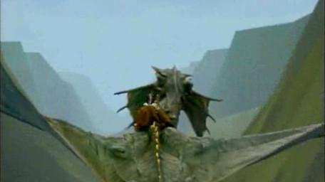 Smirkneorff's journey into the rift valley, as seen in Series 7 of Knightmare (1993).
