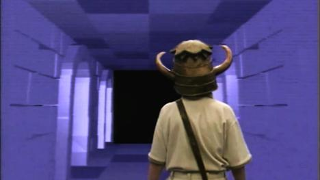 Knightmare's CGI-generated dwarf tunnels in Series 3 (1989).
