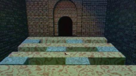 A variant of the Firebomb Room / Moving Blocks without fireball ducts, as seen in Series 8 of Knightmare (1994).