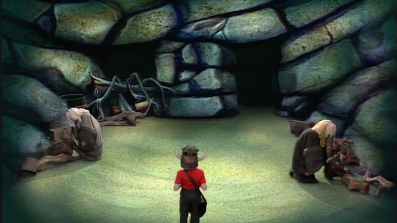 The Cavernwight Chamber from the early series of Knightmare.