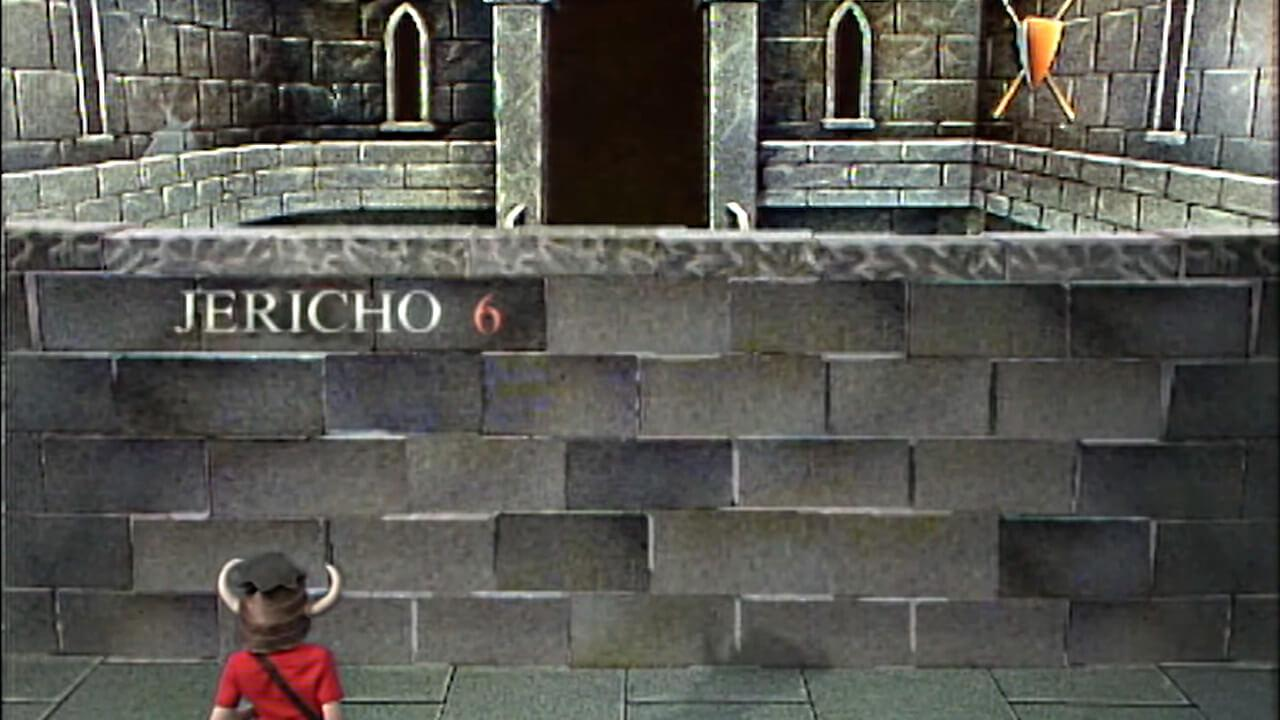 The Wall of Jericho, with the full room behind. Appears in Level 3 during the early series of Knightmare.