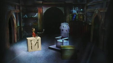 The original study of Merlin the Magician, seen in Series 1 and 2 of Knightmare.