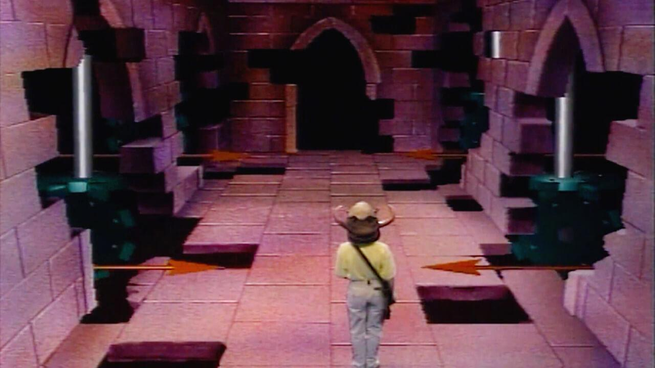 The Corridor of Spears. Dungeoneers had to pass two sets of hazardous weapons. This variation is from Knightmare Series 3.