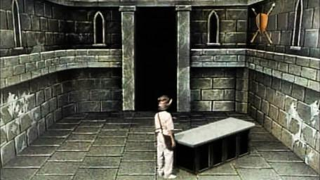 The second part of the Jericho Room, based on a handpainted scene by David Rowe, as shown on Series 3 of Knightmare (1989).