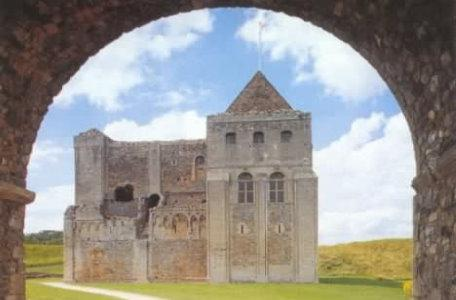 A view of the approach to Castle Rising through the arch.