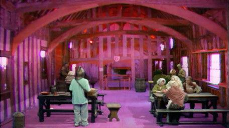 Knightmare's tavern, the Crazed Heifer, as seen in Series 7 of Knightmare (1993).