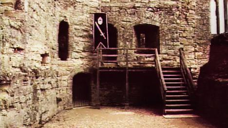Courtyard with staircase, shown frequently in Series 5 (1991).