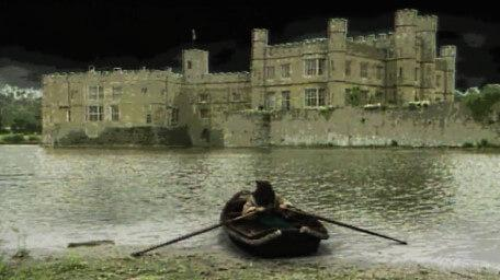 The Dunswater riverbank, as seen in Series 4 of Knightmare (1990)