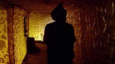 The dwarf tunnels, as seen in Series 7 of Knightmare (1993).