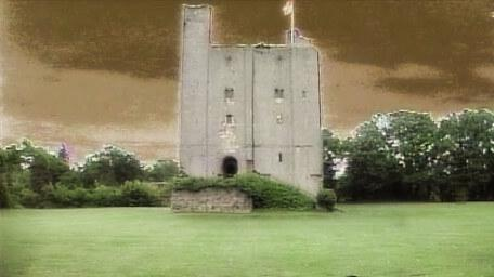 The outside of the Gate Tower, as seen in Series 5 of Knightmare (1991).