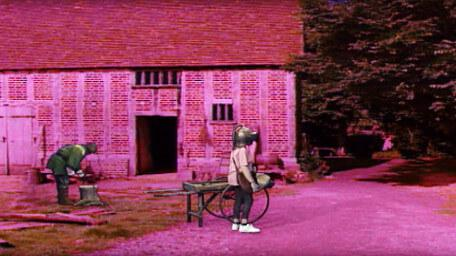 The town of Grimdale, as seen in Series 7 of Knightmare (1993).
