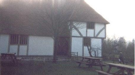 A shot of the settlement at Weald and Downland Living Museum in Chichester, West Sussex.