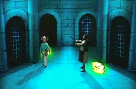 Knightmare Series 2 Team 9. Jamie is chased by the automatum as he attempts to collect pieces of a medal.