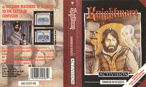 Inlay of the Activision Knightmare computer game for Amstrad CPC, Spectrum and Commodore 64.