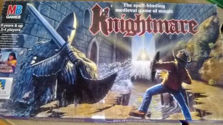 Box cover of Knightmare Board Game from MB (small).