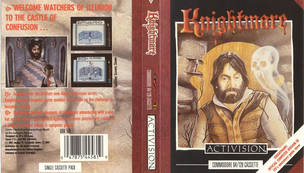 Knightmare computer game - Activision 1987 - Commodore 64 cover