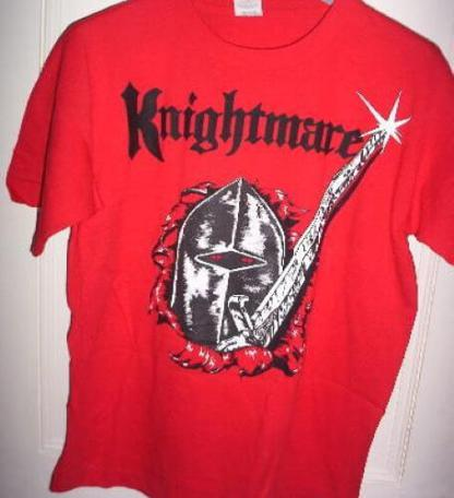 Official Knightmare t-shirt in red.