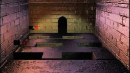 A variant of the Firebomb Room with fireball ducts, as seen in Series 7 of Knightmare (1993).
