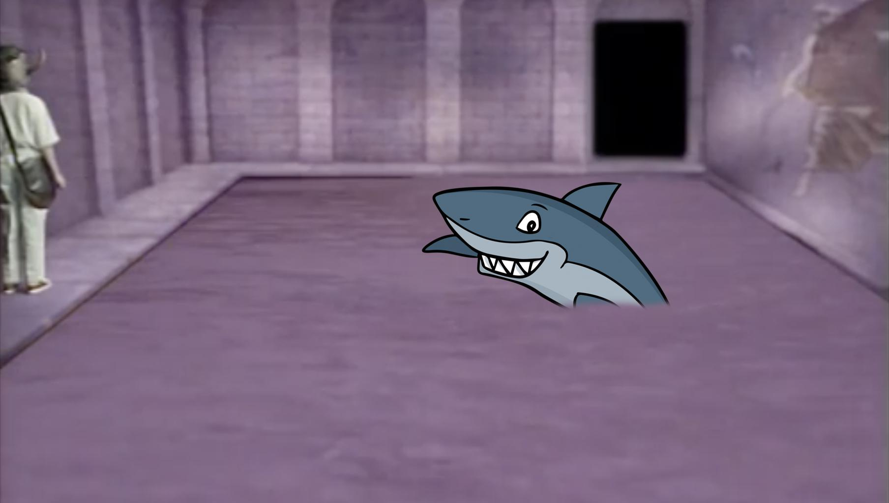 Shark in dungeon pool