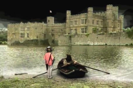 Knightmare Series 4 Team 1. Helen meets a boatman at the shore of the Dunswater.