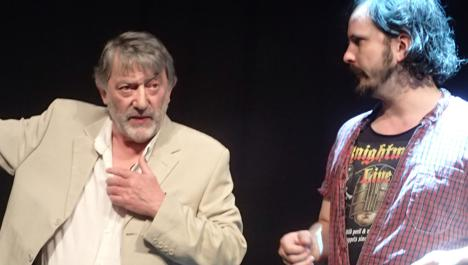 Hugo Myatt in rehearsals with Paul Flannery for Knightmare Live (2016). Picture credit: Jackie Vance.