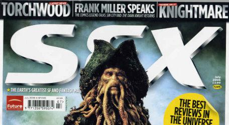 A preview of the cover of SFX magazine issue 145 (July 2006).