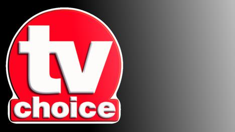 TV Choice Magazine logo set against a black gradient.