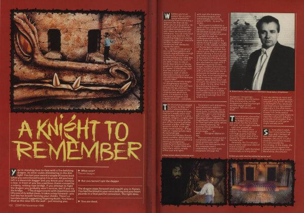 A preview of the ZZap64! feature on Knightmare, 'A Knight to Remember'.