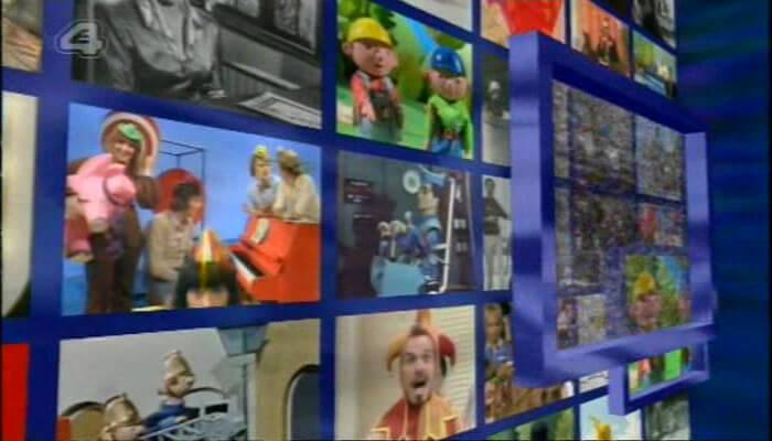 Channel 4's 100 Greatest Kid's TV Shows (2001). Sequence of monitors during the opening titles.