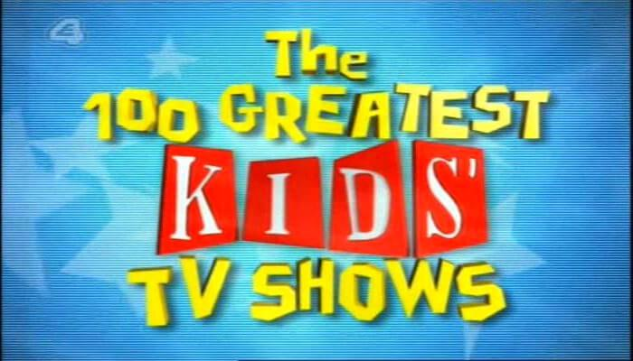 Channel 4's 100 Greatest Kid's TV Shows (2001). Main programme logo during title sequence.