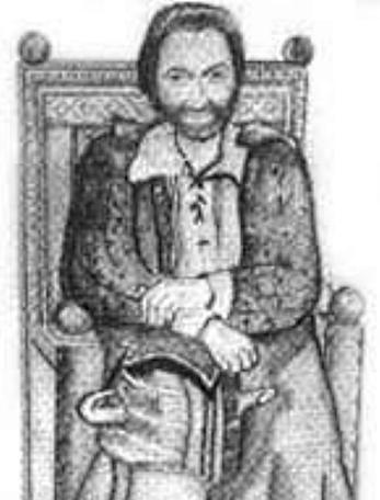 A sketch of Treguard by Andrea Barber for The Quest, the Official Newsletter of the Knightmare Adventurers Club. Volume 2, Issue 2.