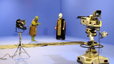 Filming of spyglass sequence in Knightmare geek week
