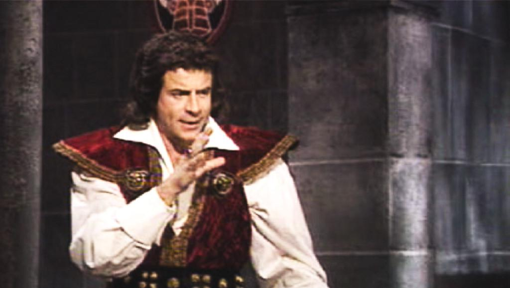 Georges Beller plays Le Maître du Château in the French adaptation of Knightmare, Le Chevalier du Labyrinthe.