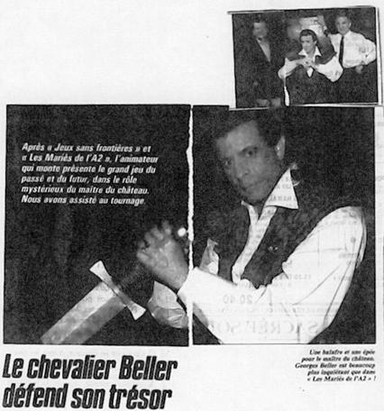 A press snippet of Le Chevalier du Labyrinthe, featuring Georges Beller.