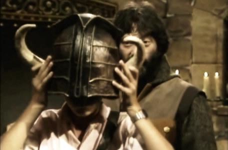 Knightmare Series 1 Team 1. David the dungeoneer with the helmet of justice.