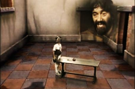 Knightmare Series 1 Team 1. Treguard issues a warning in the Level 1 clue room.