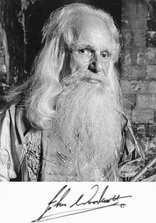 A 1988 signed character shot of Merlin (John Woodnutt).