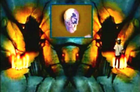 Knightmare Series 2 Team 10. Julian suffers life force damage in the flames of the Scarab Room.