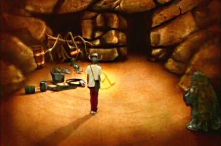 Knightmare Series 2 Team 10. Julian collects a segment of the talisman in the cavernwight room.