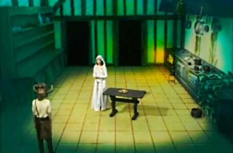 Knightmare Series 2 Team 4. Mark meets Gretel the Maid in the kitchen.