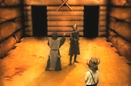 Knightmare Series 2 Team 4. Cedric confronts Gumboil the guard.