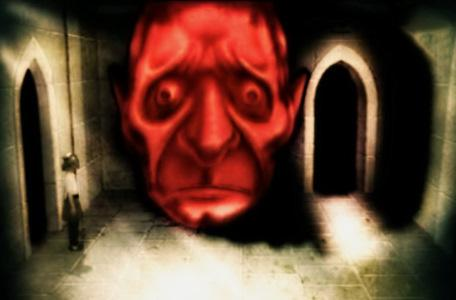 Knightmare Series 2 Team 4. A cheered gargoyle turns red and reveals an exit.