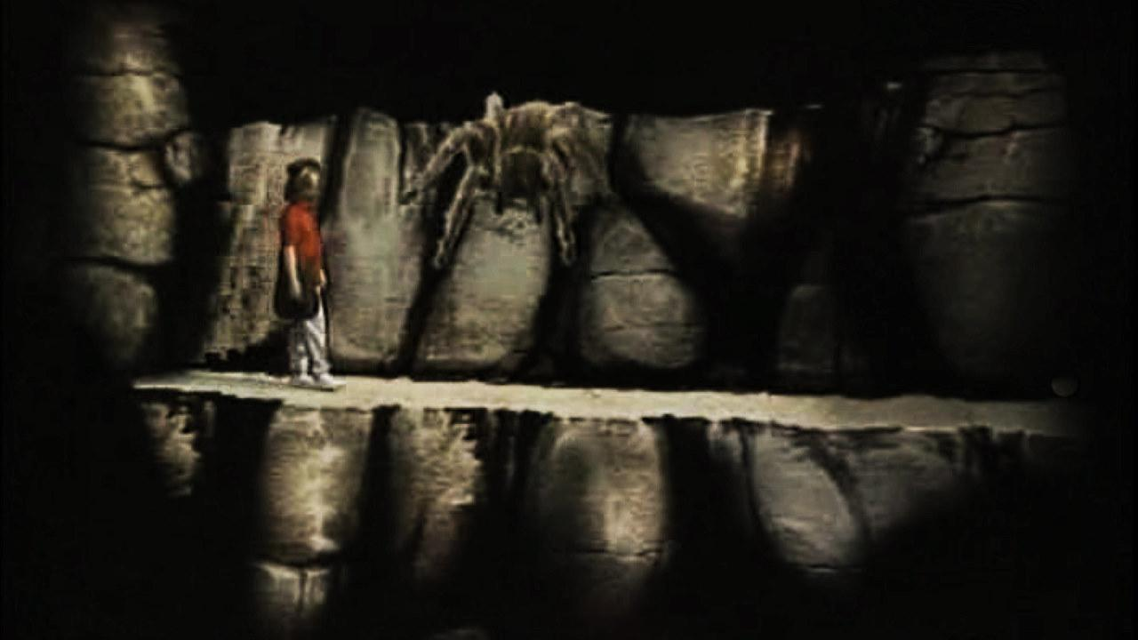 Series 2, Quest 12. Steven encounters a giant arachnid on a narrow ledge.